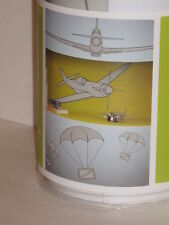 Circo Large Wall Decals Appliques Aviation Plane Parachute Gray 21 Pieces NIP