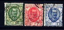 ITALIA - Regno - 1926 - Tipo floreale modificato - 25 c. - 75 c. - 1,25 lire