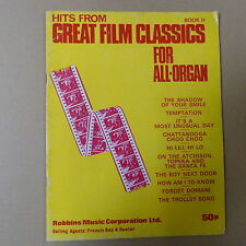 all organ HITS FROM GREAT FILM CLASSICS Book 2