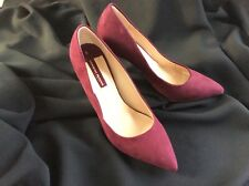 NEW Ladies Dorothy Perkins High Heel Shoes Size UK 5  Burgundy Red Wine Suede