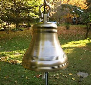 "Aluminum Bell 24"" - Huge - Antique Brass Finish NEW"