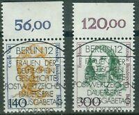 Berlin 848-849 , o , Frauen der Deutschen Geschichte , Oberrand mit Vollstempel