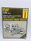 Haynes Fiat 124 Sport 1968-78 Coupe & Spider Owners Workshop Manual