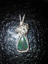 opal lightning ridge green in 925 silver wire wrap