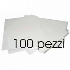 FOGLI IN CIALDA A4 BIANCHE DA STAMPARE 100 pezzi in ostia per Torroni