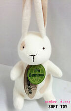 "1 x Bamboo Plush Soft Toys 8""-9"" Bamboo Bunny x 2-Enviromental friendly"