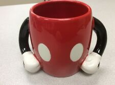 Mickey Mouse Mug Red Pants White Gloves Two Arms Disney Galerie Ceramic Body EUC