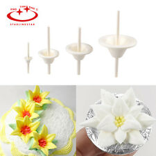 4Pcs Icing Cream Flower Nails Set Cake Cupcake Stand Pastry  Decorating Tool