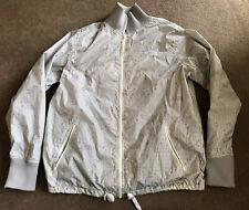 Men's The North Face Gray/White Full Zip Nylon Windbreaker Jacket Size Large EUC