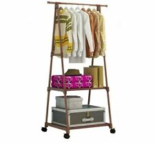 Clothes Rack Movable Hanger Stainless Steel Home Bedroom Clothing Organizer Tool