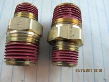 "(2) ½"" X 3/8"" MNPT Brass Hex Reducer Nipple [ABY]"