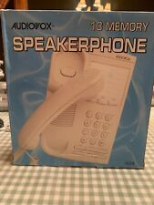Audiovox Memory Redial Flash Button Speakerphone Hearing Aid Compatible White