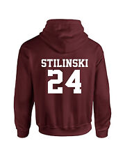 Maroon Stiles Stilinski Inspired Wolf Adult Hoodie Teen