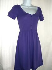 ae'ropostale - Solid Purple Cotton/Poly Short Sleeve Scoop Neck Dress -Size- Xs*