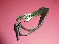Drink Coca Cola Bottle Opener with Leather Strap
