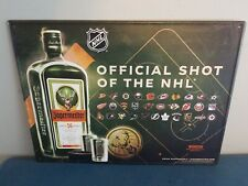 (L@@K) jagermeister nel hockey Blackhawks knights blues sharks Bruins tin sign