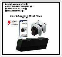 HYC-P5128 Dual Charging Station for PS5 Controller Base Charger with AC Adapter
