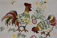 Embroidery Easter Chicken Rooster Egg Embroidered Tablecloth Placemat Runner