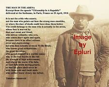 """Theodore Roosevelt - The Man in the Arena - 8""""x10"""" Photo Yosemite"""