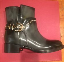 New Salvatore Ferragamo Nolas Grommet Platform Booties /shoes sz7/37M$249