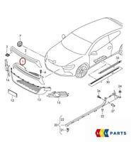 NEW GENUINE VW SCIROCCO R 09-14 FRONT BUMPER CENTRE UPPER GRILL 1K8853653B 9B9