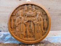 Orthodox Belt Buckle Greek Wax Icon Carved From Mount Athos - Monastic Handmade