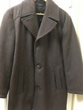 Men's London Fog S Brown Wool Polyester Rayon Single Breasted 3-Button Coat
