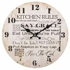 Jones Home and Gift Kitchen Rules Clock Multi-colour 34 Cm