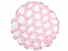 Pink Ribbon Knot Bun Hair Net Ballerina Ballet Dance Gymnastics Horse Riding