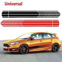Racing Stripe Graphic Stickers Truck Auto Car Body Side Door Vinyl Decals HQ