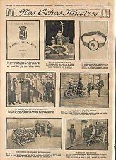 Papier à Lettre Mairie de Thann Alsace/Sculpteur Adet Drapeau Portugal  WWI 1915