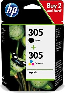 HP No 305 Black & Colour Original OEM Inkjet Cartridges 3YM60AE, 3YM61AE