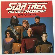 STAR TREK THE NEXT GENERATION 1994 CALENDAR - Patrick Stewart, Brent Spiner