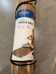 "Evolve by Gaiam Cork Yoga Mat 5 MM Eco Friendly 68"" X 23.5"" Brand New!"