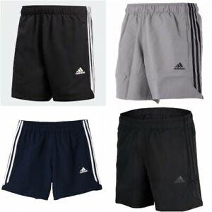 Adidas Essential 3 Stripe Shorts Mens Original Climalite Gym Shorts