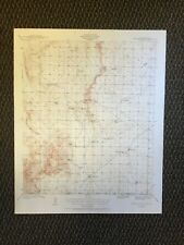 Vintage USGS Bassett Lake New Mexico 1940 Topographic Map Texas