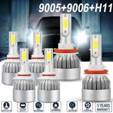 6Pcs 9005+9006+H11 Combo CREE LED Headlight Bulb+Fog Light kit Hi/Lo Beam 6000K