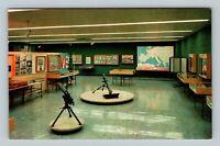 Abilene KS Eisenhower Museum West Wing, World War II Map, Chrome Kansas Postcard