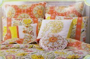 Dena Euro Sham Meadow Cotton Percale Nostalgia Handmade Geometric & Floral