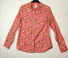PINK GREEN FLORAL LADIES CASUAL TOP BLOUSE SHIRT GAP SIZE S/P