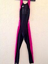 """Speedo Fastskin FSII Womens Record Breaker Bodyskin Full Body Swimsuit Sz 27"""""""