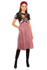 RRP €615 KATE SPADE NEW YORK Lamb Leather Flare Skirt Size 8 M Ruffled Gathered