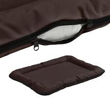 [en.casa]® Cuccia letto cane 80x60cm marrone gatti animali lettino cuscino