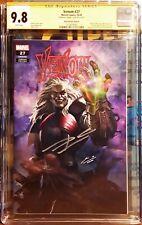 Venom 27 Skan Cover A Cgc 9.8 SS Signed Cates