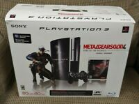 PlayStation 3 PS3 80GB Metal Gear Solid 4: Guns of the Patriots Bundle COMPLETE!