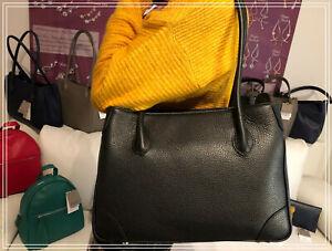 Lederhandtasche in schwarz - Glenda - von MAXIMA aus Mailand in Italien