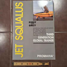 Original Jet Squalus Global Trainer Promavia Tri-Fold Brochure, 8.5 x 11