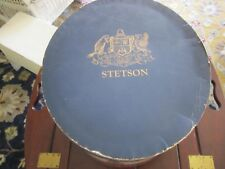 Vintage Stetson Hat Box. Oval, Carpenter's Hall/American Flag.