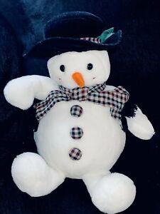 "Goffa Large Plush Snowman 24"" Tall Sitting Down"