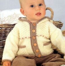 Knitting Pattern - Baby Boys Loopy DK Jacket with Pockets Chest 40-55 cm  (134)